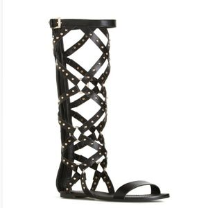 Shoedazzle Marvie Black Gladiator NIB
